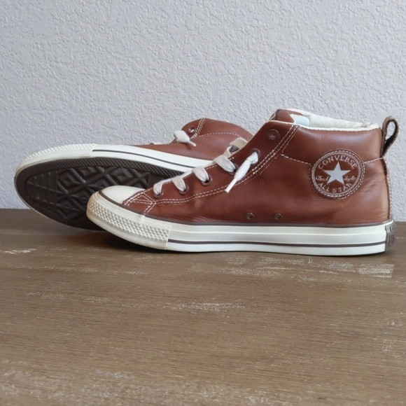 Brown Leather Converse All Star